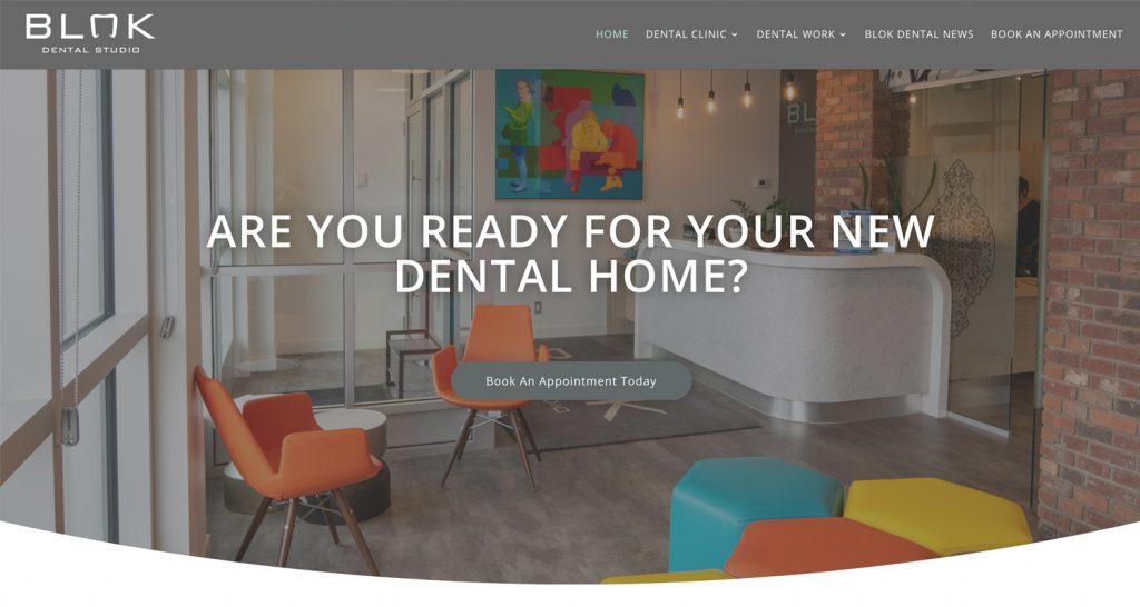 A new website built for BLOK Dental in Saskatoon Saskatchewan